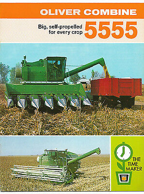 1969 Oliver 5555 Self-Propelled Combine Brochure