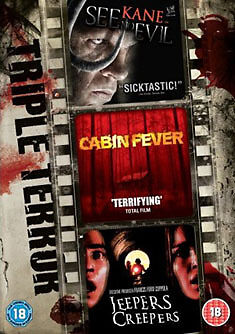 DVD:TRIPLE TERROR - SEE NO EVIL & JEEPERS CREEPERS & CABIN  - NEW Region 2 UK