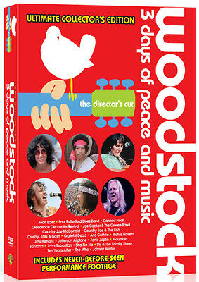 DVD:WOODSTOCK - ULTIMATE COLLECTORS EDITION - 40TH ANNIVERS - NEW Region 2 UK