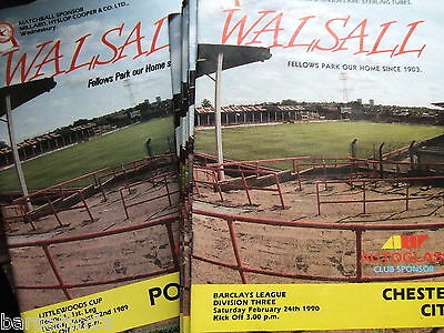 Walsall HOMES 1989-1990