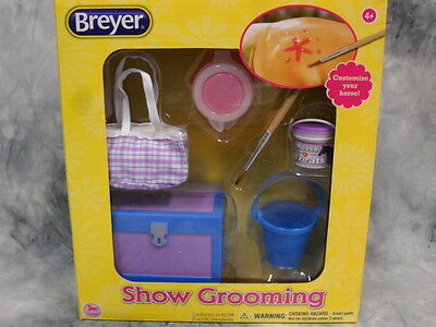 Breyer * Show Grooming Kit * 61076 Tack Trunk Paint Brush Classic Model Horse