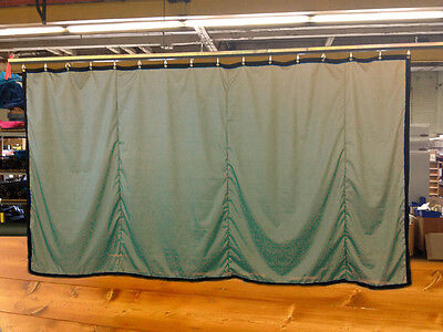 Tan Curtain/Stage Backdrop/Partition, Non-FR, 10 H x 20 W