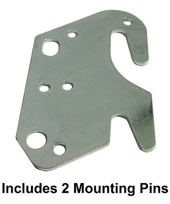 "Universal Wood Bed Rail 2"" Bracket Metal Claw Hook Plate - Includes Pins"