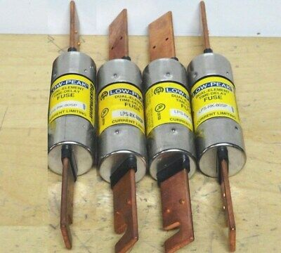 ( 4 ) BUSSMANN LPS-RK-80SP * Low Peak Time Delay Fuse 80A * 600vac/300vdc *NEW*