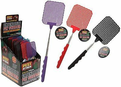 1 x TELESCOPIC Extendable FLY SWATTER, Extends to 70cm! Random Colour selected!