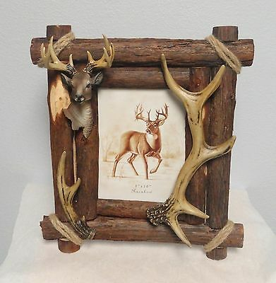 New Limited Deer Head  Picture Frame, Wildlife  Cabin, Lodge, Home Decor 8 X 10