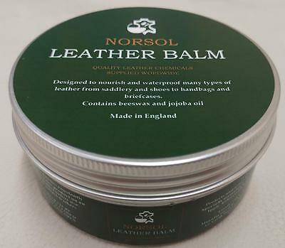 NORSOL Leather Balm. Conditioning, waterproofing, protecting 250ml, dubbing wax