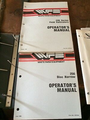 White 220 Field Cultivator Manual 256 Disc Harrow Operator's Manual Oliver