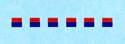 Dinky-Spares | Dinky Army - Military Vehicles | 3mm Signs  Red / Blue | Decals