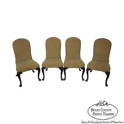 Ferguson Copeland Set of 4 Queen Anne Upholstered Side Chairs