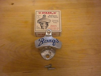 Vintage Starr X Stationary Bottle Opener Drink Barg's USA Box