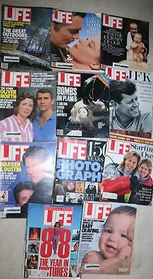 Lot of Vintage 1980s 1990s Life Magazines - great ads!