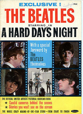 Beatles Hard Day's Night Whitman Souvenir Mag UK Version