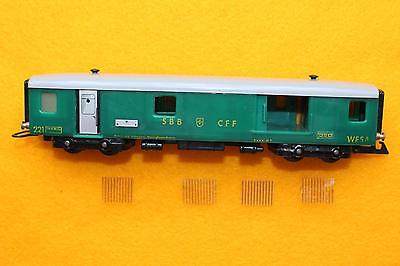 WESA c.  1950's 13mm TT (Scale 1:100) #221, Baggage rail car.
