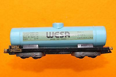 Scarce vintage WESA c.  1948 13mm TT (Scale 1:100) #242 blue tank car.