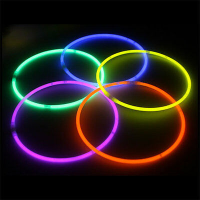 "100 pack 22"" Glow Stick Necklaces Neon Colors Party Favors - FREE SHIPPING!!!"