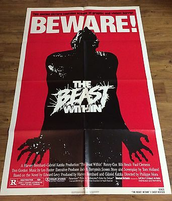 THE BEAST WITHIN Original Movie Poster One Sheet, Horror