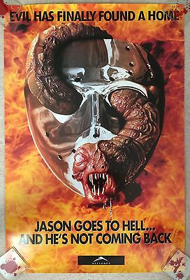 JASON GOES TO HELL Original One Sheet Movie Poster - Horror