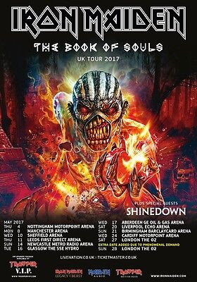 IRON MAIDEN The Book Of Souls 2017 UK Tour PHOTO Print POSTER Shinedown World 57