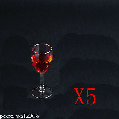 5X 300ML Classic Toughened Glass Red Wine Foreign Wine Goblet Multi-Use NN