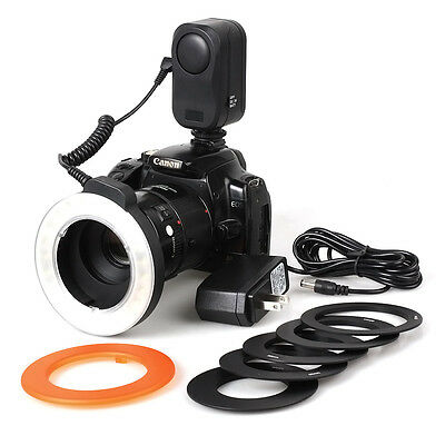 NEW HOT 48LED Macro Ring LED Camera DSLR Light Adapter for Nikon Canon Sony Fuji