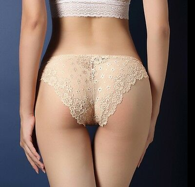 Women Seamless Lace Panties Briefs Underwear Lingerie Knickers Thongs G-String