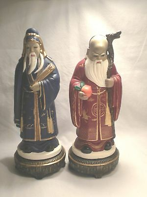 Beautiful Set of 2 Chinese Oriental Figurines