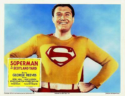 GEORGE REEVES Close-up For SUPERMAN IN SCOTLAND YARD 11x14 LC Print 1954