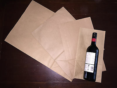 50pcs x Brown Grocery Bag Strong Kraft Paper Wide Opening 24 x 12cm, 39m height