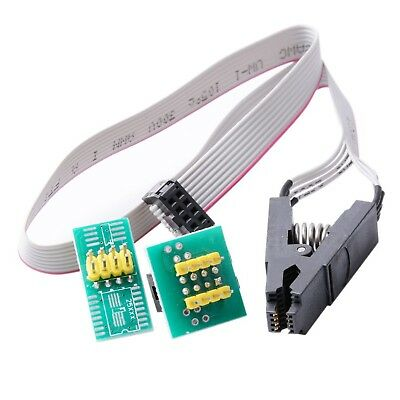CTYRZCH SOIC8 SOP8 Flash Chip IC Test Clips Socket Adpter Programmer BIOS... NEW