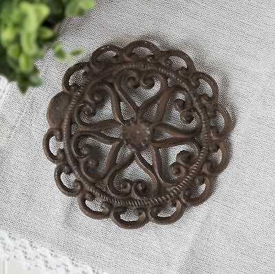 Cast Iron Trivet | Round with Vintage | Pattern Decorative Cast Iron Trivet F...