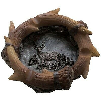 Decorative Deer Antler Ashtray in Rustic Hunting Lodge Bar Decorations or... NEW