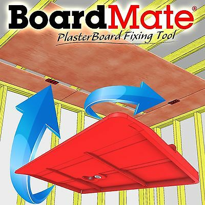 BoardMate - Drywall Fitting Tool Supports The Board In Place While Instal... NEW