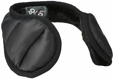 180s Women's Down Water Resistant Behind the Head Ear Warmers Black One S... NEW