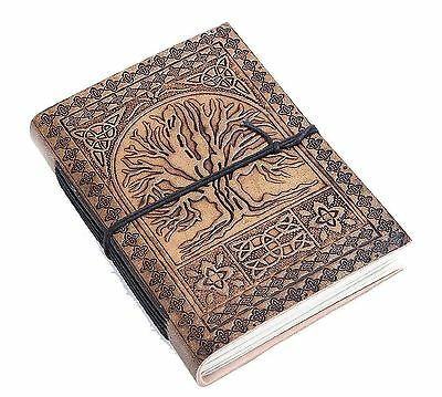 Tree of Life Leather Diary Unlined Journal Travel Blank Notebook For Men ... NEW