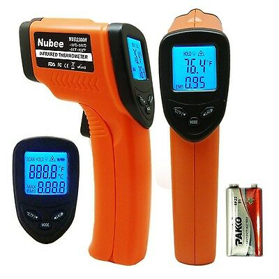 Nubee Temperature Gun Non-contact Infrared Thermometer MAX Display & EMS ... NEW