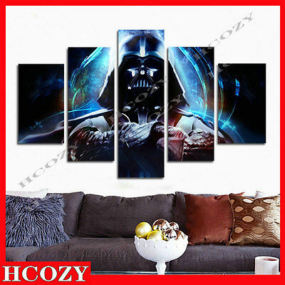 "HUGE MODERN ABSTRACT WALL DECOR ART OIL PAINTING ON CANVAS ""no frame""Star Wars"