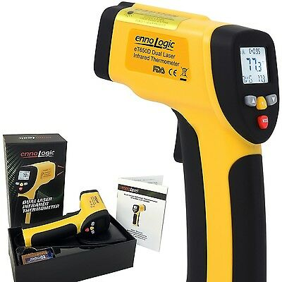 Temperature Gun ennoLogic Dual Laser Non-Contact Infrared Thermometer -58... NEW