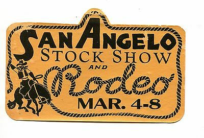 Vintage Advertising Label Decal SAN ANGELO STOCK SHOW & RODEO Texas