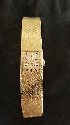 Vintage Omega 14K Solid Gold Ladies 17 Jewel Wrist Watch
