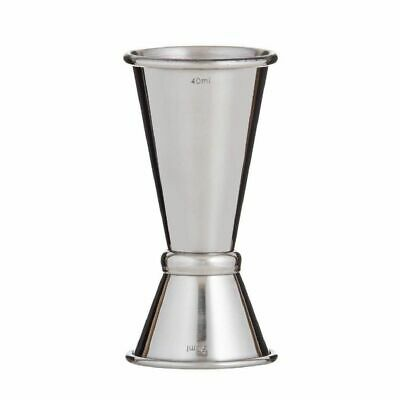 NEW VISKI DOUBLE JIGGER STAINLESS STEEL Mixer Nip Measure Martini Cocktail Shot