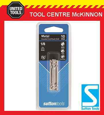 """Sutton #30 Double Ended Tupoint Drill Bit For 1/8"""" Rivets – 10 Pack / 20 Tips"""