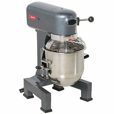 Commercial Dough 10 Qt Planetary Stand Mixer W/Guard & 3 Attachments Gear Driven