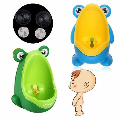 1x Children Potty Toilet Training Kids Frog Urinal for Boy Pee Trainer Bathroom