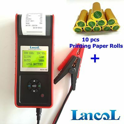 LANCOL MICRO-568 12V Digital Car Battery Load Tester with Printer CCA Analyzer