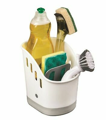 NEW AVANTI SINK TIDY Kitchen Laundry Bathroom Cleaning Caddy Basket White