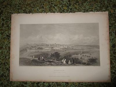 1840s,GOOD VIEW JERUSALEM FROM OLIVES MOUNT,TEMPLE,PALESTINE,HOLY LAND,ISRAEL