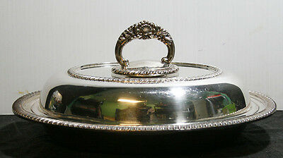 Vintage Sheffield Reproductions Silver Plate Lidded Casserole Dish