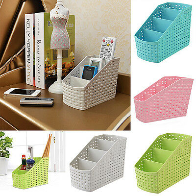 Mini 4 Grids Desk Storage Office Organizer Box Case Cosmetic Organizer Holder