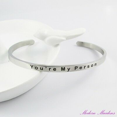 You're My Person Cuff Bangle Bracelet 304 Stainless Steel